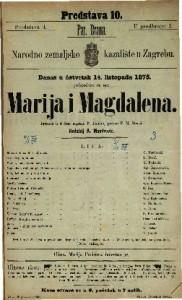 Marija i Magdalena igrokaz u 4 čina / napisao P. Lindau