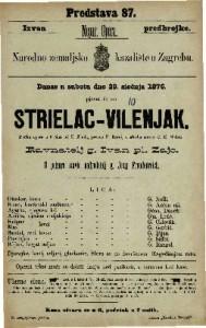 Strielac - vilenjak pučka opera u 3 čina / od F. Kinda ; u glasbu stavio C. M. Weber