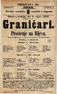 Graničari ili Proštenje na Ilijevu Izvorni igrokaz s pjevanjem u 3 razdjela / od J. Freudenreicha
