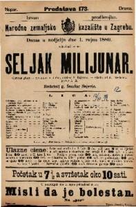 Seljak milijunar Čarobna gluma s pjevanjem u 3 čina / napisao F. Rajmund