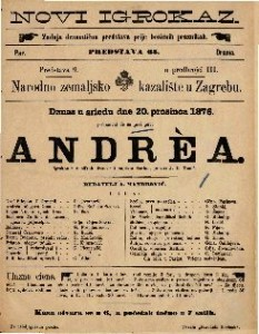 Andrea igrokaz u 6 slikah / francezki napisao Sardou