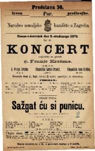 Koncert umjetnika na guslah g. Franje Krežme