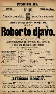 Roberto djavo velika opera u 5 čina / uglasbio ju J Meyerbeer