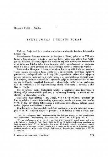 Sveti Juraj i zeleni Juraj / B. Fučić