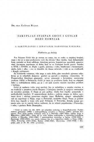 Sakupljač Stjepan Grčić i guslar Božo Domnjak / G. Bujas