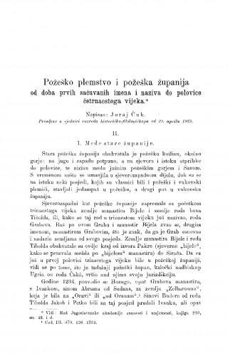 Požeško plemstvo i požeška županija od doba prvih sačuvanih imena i naziva do polovice četrnaestoga vijeka