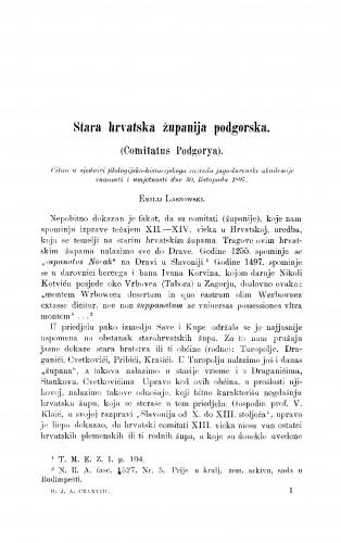 Stara hrvatska županija podgorska