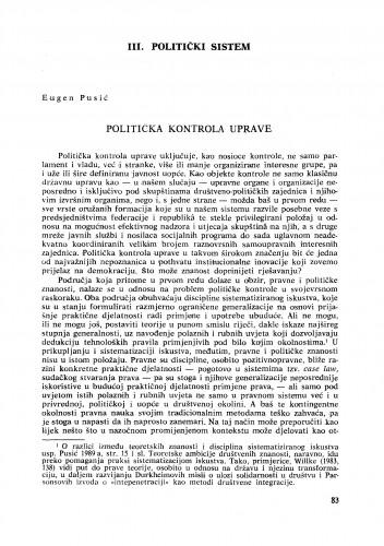 Politička kontrola uprave