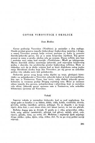 Govor Virovitice i okolice / I. Brabec