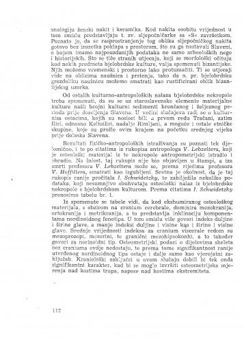 Istraživanje nekropole ranog srednjeg vijeka u Bijelom Brdu / F. Ivaniček