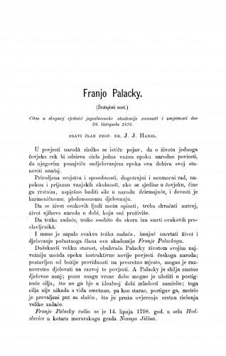 Franjo Palacky : RAD