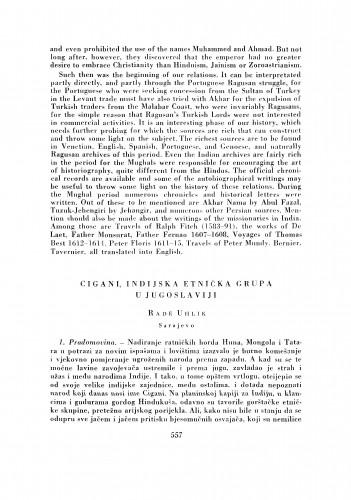 Cigani, indijska etnička grupa u Jugoslaviji