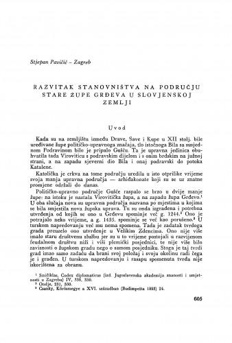 Razvitak stanovništva na području stare župe Grđeva u Slovjenskoj zemlji / S. Pavičić