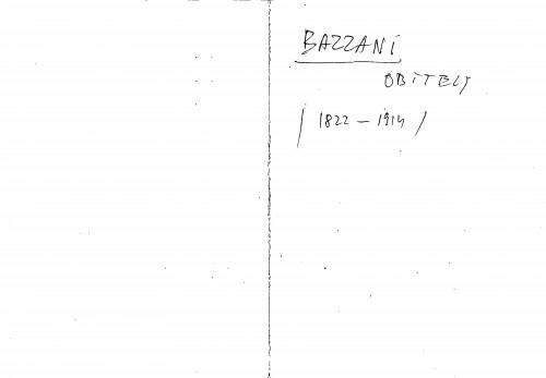 Bazzani obitelj 1822-1914