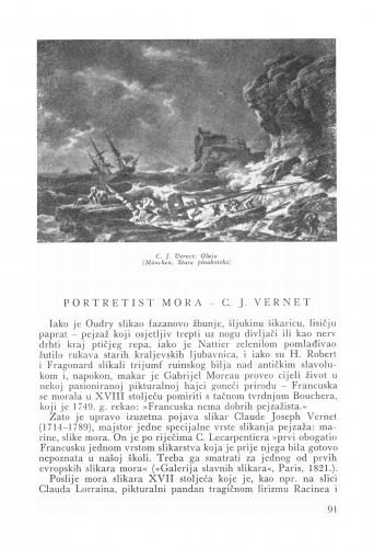 Portretist mora - C. I. Vernet : Bulletin Zavoda za likovne umjetnosti Jugoslavenske akademije znanosti i umjetnosti