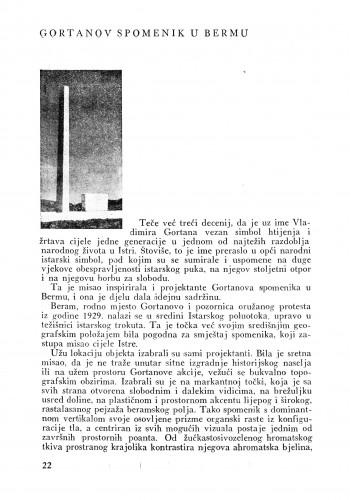 Gortanov spomenik u Bermu : Bulletin Instituta za likovne umjetnosti Jugoslavenske akademije znanosti i umjetnosti