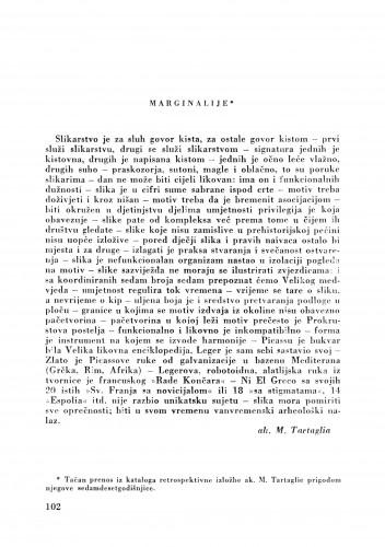 Marginalije : Bulletin Zavoda za likovne umjetnosti Jugoslavenske akademije znanosti i umjetnosti