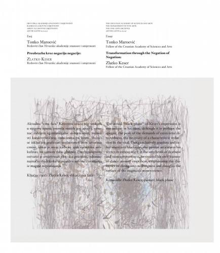 Preobrazba kroz negaciju negacije: Zlatko Keser : Art Bulletin
