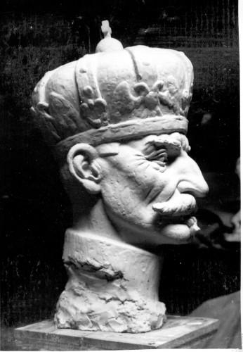Radauš, Vanja (1906-1975) : Skica za spomenik kralju Petru u Sarajevu - detalj