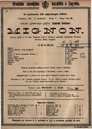 Mignon lirična opera u tri čina / uglazbio Ambroise Thomas