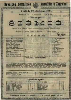 Šišmiš opereta u 3 čina / od Ivana Straussa