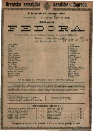 Fedora drama u četiri čina / od Victoriena Sardoua