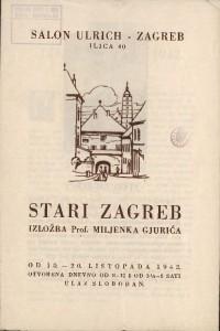 Stari Zagreb - Izložba Prof. Miljenka Gjurića