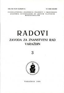 Knj. 3(1989) : Radovi Zavoda za znanstveni rad Varaždin