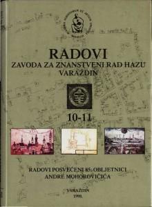 Knj. 10/11 (1998) : Radovi Zavoda za znanstveni rad Varaždin