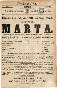 Marta opera u 4 čina / glasba od Flotova