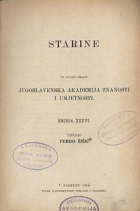 Knj. 36(1918) : Starine