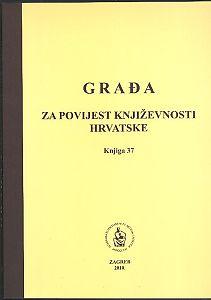 Knj. 37(2010) : Građa za povijest književnosti hrvatske