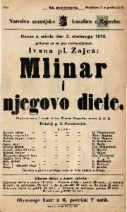 Mlinar i njegovo diete Pučka drama u 5 činah