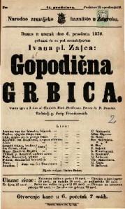 Gospodična Grbica Vesela igra u 3 čina