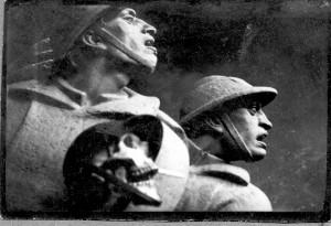 Augustinčić, Antun: Detalj figuralne grupe Spomenika palim Šumadincima - tijek izrade ]