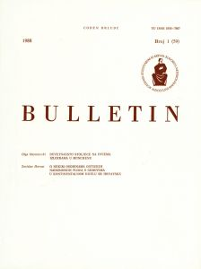Br. 1(59) (1988) : Bulletin Razreda za likovne umjetnosti Jugoslavenske akademije znanosti i umjetnosti