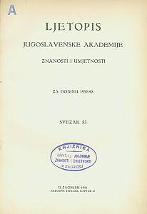 Za godinu 1939/40. Sv. 53 : Ljetopis