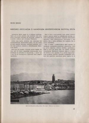 Nekoliko asocijacija o najnovijem arhitektonskom razvitku Splita : Urbs