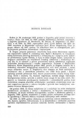 Boris Dogan : [biografije novih članova Akademije]