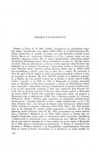 Drago Ivanišević : [biografije novih članova Akademije]