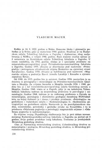 Vladimir Majer : [biografije novih članova Akademije]