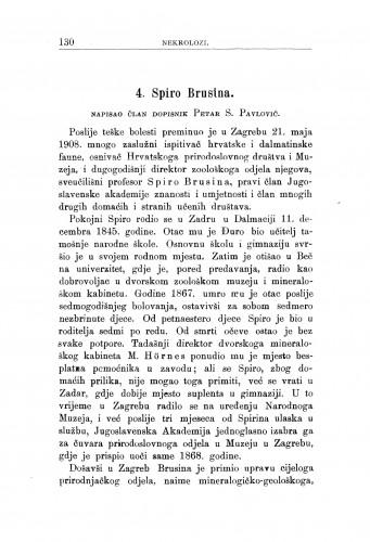 Spiro Brusina : [nekrolog] / P. S. Pavlović