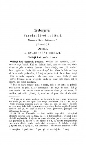 Trebarjevo : narodni život i običaji / K. Jajnčerova