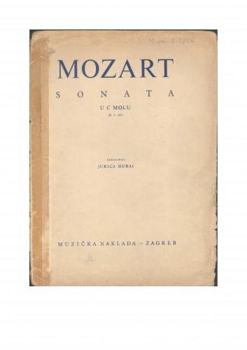 Sonata u c-molu : K. V. 457 : Ostavština Jurica Murai