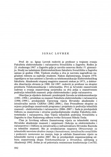 Ignac Lovrek : Ljetopis