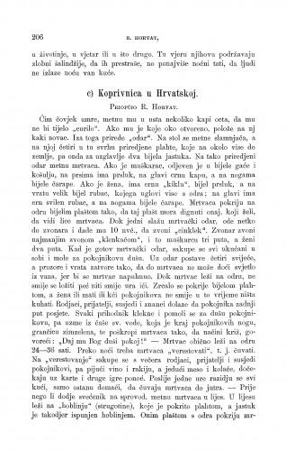 Koprivnica u Hrvatskoj : smrt : Zbornik za narodni život i običaje