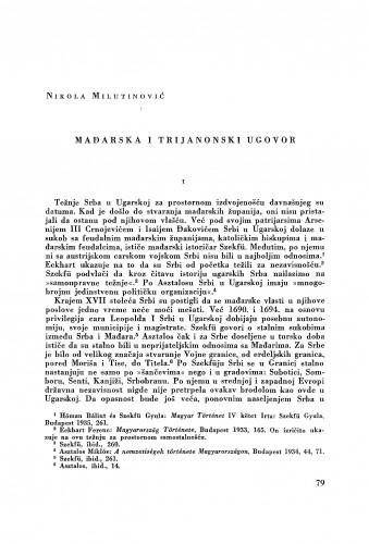 Mađarska i Trijanonski ugovor / Nikola Milutinović
