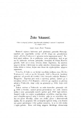 Živko Vukasović : RAD