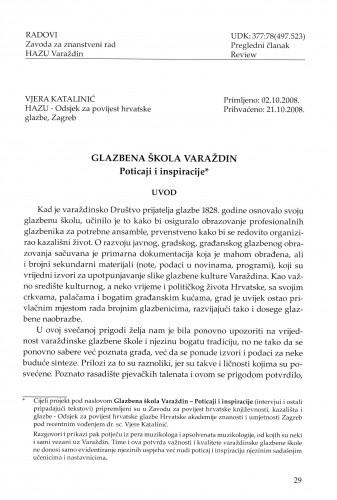 Glazbena škola Varaždin - Poticaji i inspiracije : Radovi Zavoda za znanstveni rad Varaždin