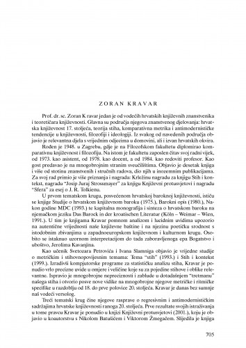 Zoran Kravar : Ljetopis
